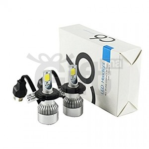 C6 LED Headlight H7 w/ 72W 7600LM Xenon