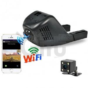 DashCam Double Lentille - WIFI Hidden Car DVR 1080P Full HD 170 Angle + Caméra Arrière