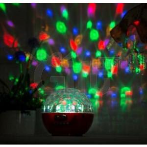 Disco Bluetooth haut parleur Magic Ball effet lumière