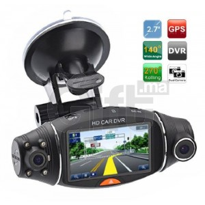 R310 Car DVR Dual Lens Dash Camera GPS G-Sensor Recorder 2.7inch