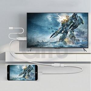 Generique USB mâle + Adaptateur USB 2.0 Femelle vers téléphone HDMI vers HDTV Câble pour iPhone Galaxy Huawei et Autres Téléphones