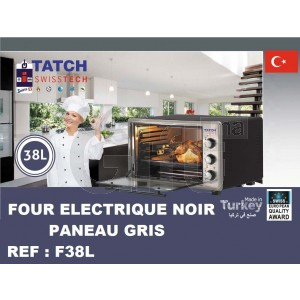 FOUR ELECTRIQUE NOIR PANEAU GRIS - 38L -Tatch SwissTech
