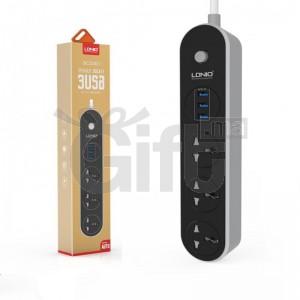 Multiprise LDNIO - 3 prise Courant + 3 ports USB