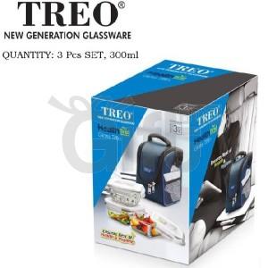 Sacs à Repas Pour Enfant et Adulte - Treo Health First Boîte à lunch en verre Tiffin 3 contenants (300 ml)