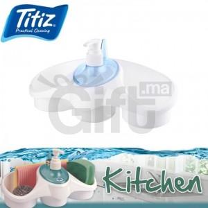 Titiz 3 in 1 Distributeur de savon et détenteur d'éponge
