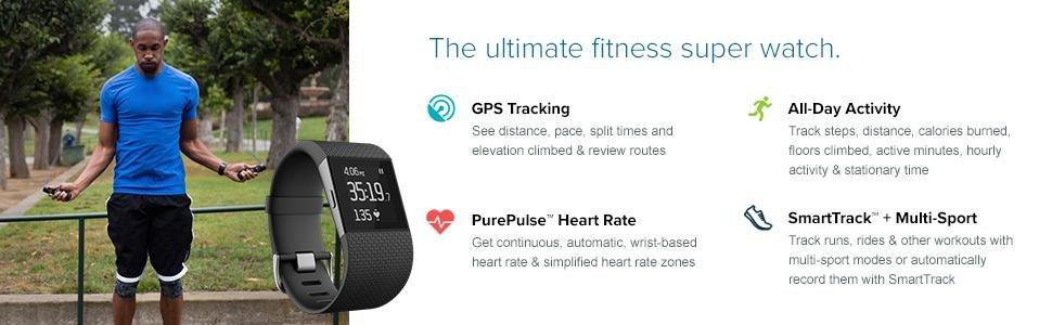Fitbit-Surge-Bracelet-Fitness-gps-cycling-tracker-Super-watch - Chez Gift.Ma Boutique des cadeaux aux meilleurs prix en ligne au Maroc