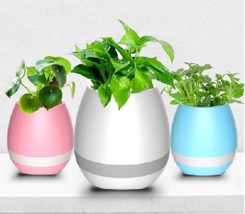 enceinte-bluetooth-smart-led-musique-pots-de-fleure-Chez Gift.Ma Boutique des cadeaux aux meilleurs prix en ligne au Maroc