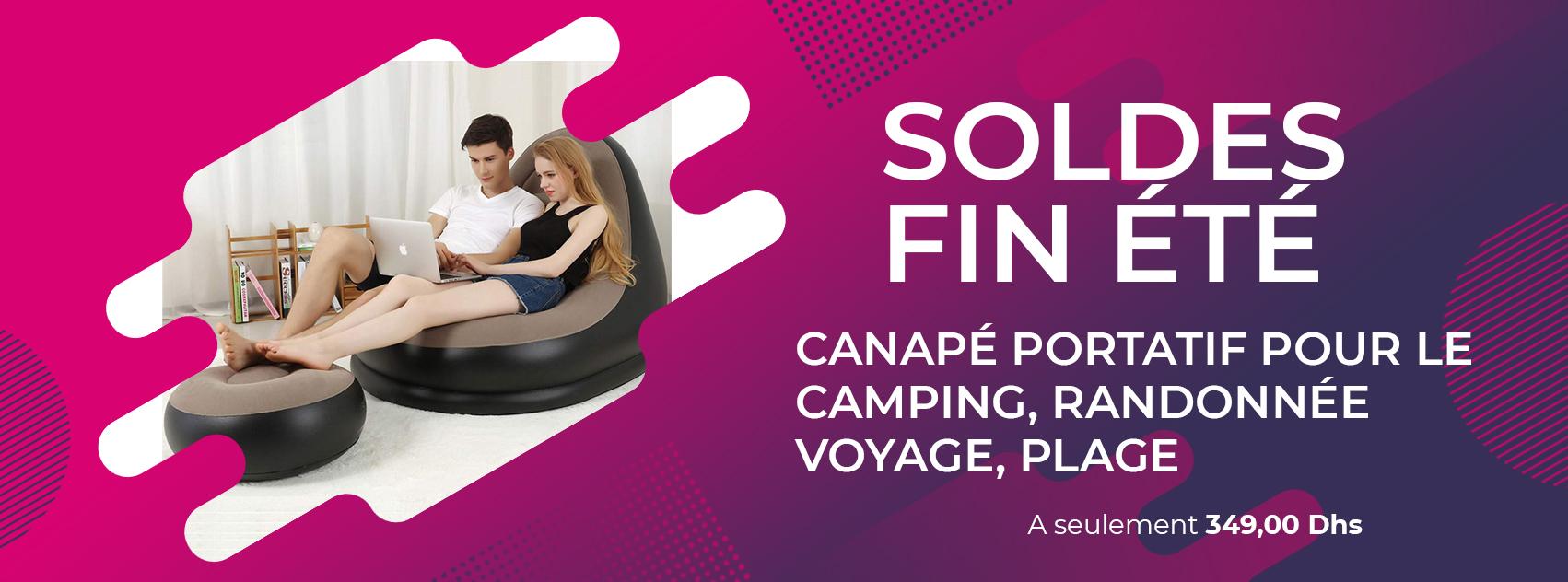 Canapé Gonflable d'air, Pouf, canapé inclinable portatif pour Le Camping, randonnée, Voyage, Plage
