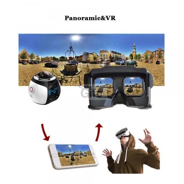 CAMÉRA VIDÉO PANORAMIQUE 360° 4K WIFI
