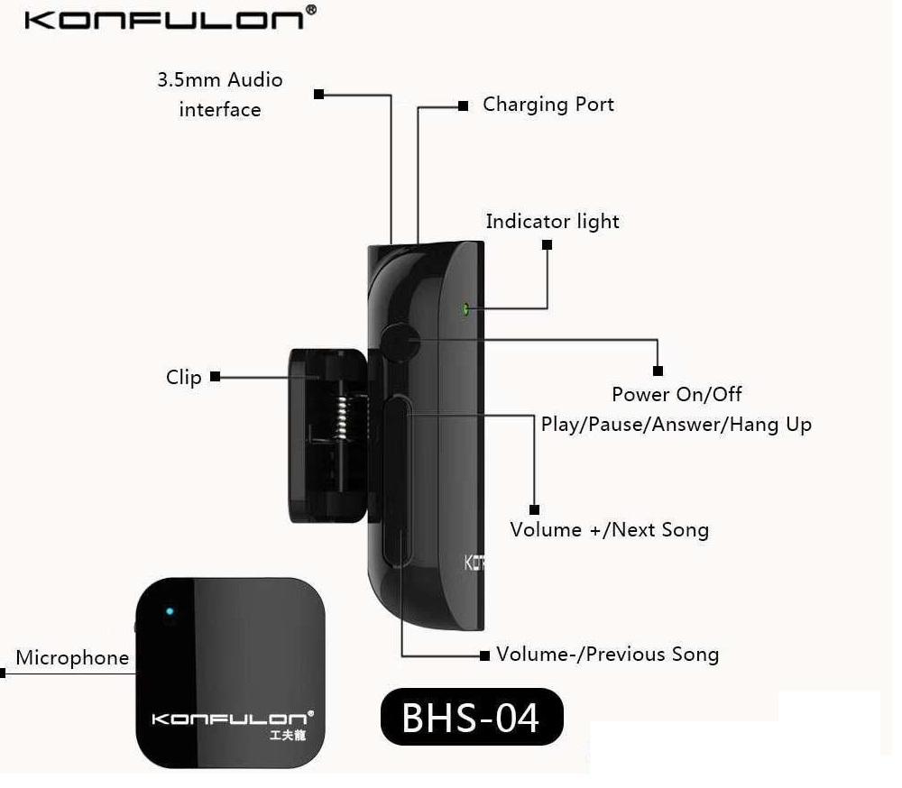 Chez Gift.Ma Boutique des cadeaux aux meilleurs prix en ligne au Maroc  Bluetooth Écouteur Konfulon BHS-04