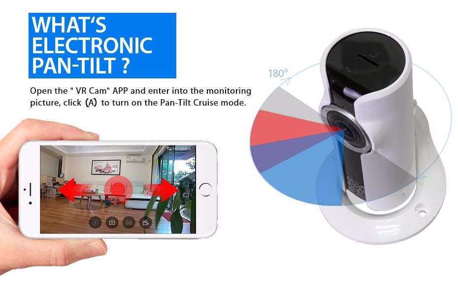 Chez Gift.Ma Boutique des cadeaux aux meilleurs prix en ligne au Maroc Caméra Breach Horizon 720 P Sans Fil Mini IP Caméra 180 Degrés Vue Fisheye - Vidéo Surveillance Caméra P2P VR-Caméra