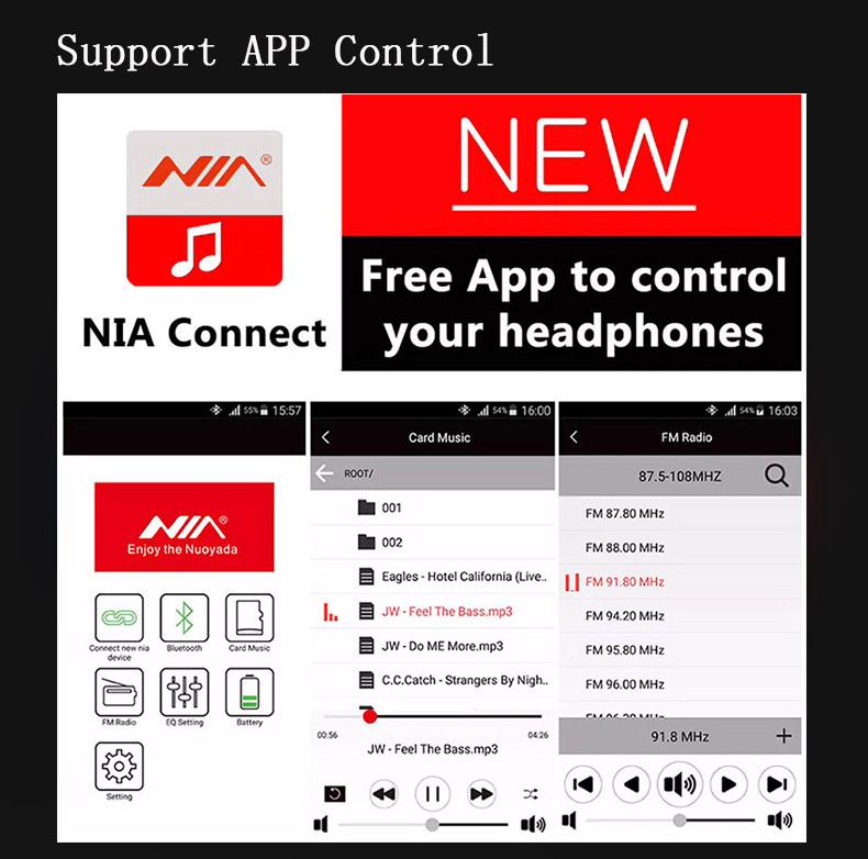 Casque NIAX5SP  - Sans Fil Stéréo Bluetooth - au maroc en ligne D'origine Casque Haut-parleurs Bluetooth fone de ouvido avec Mic