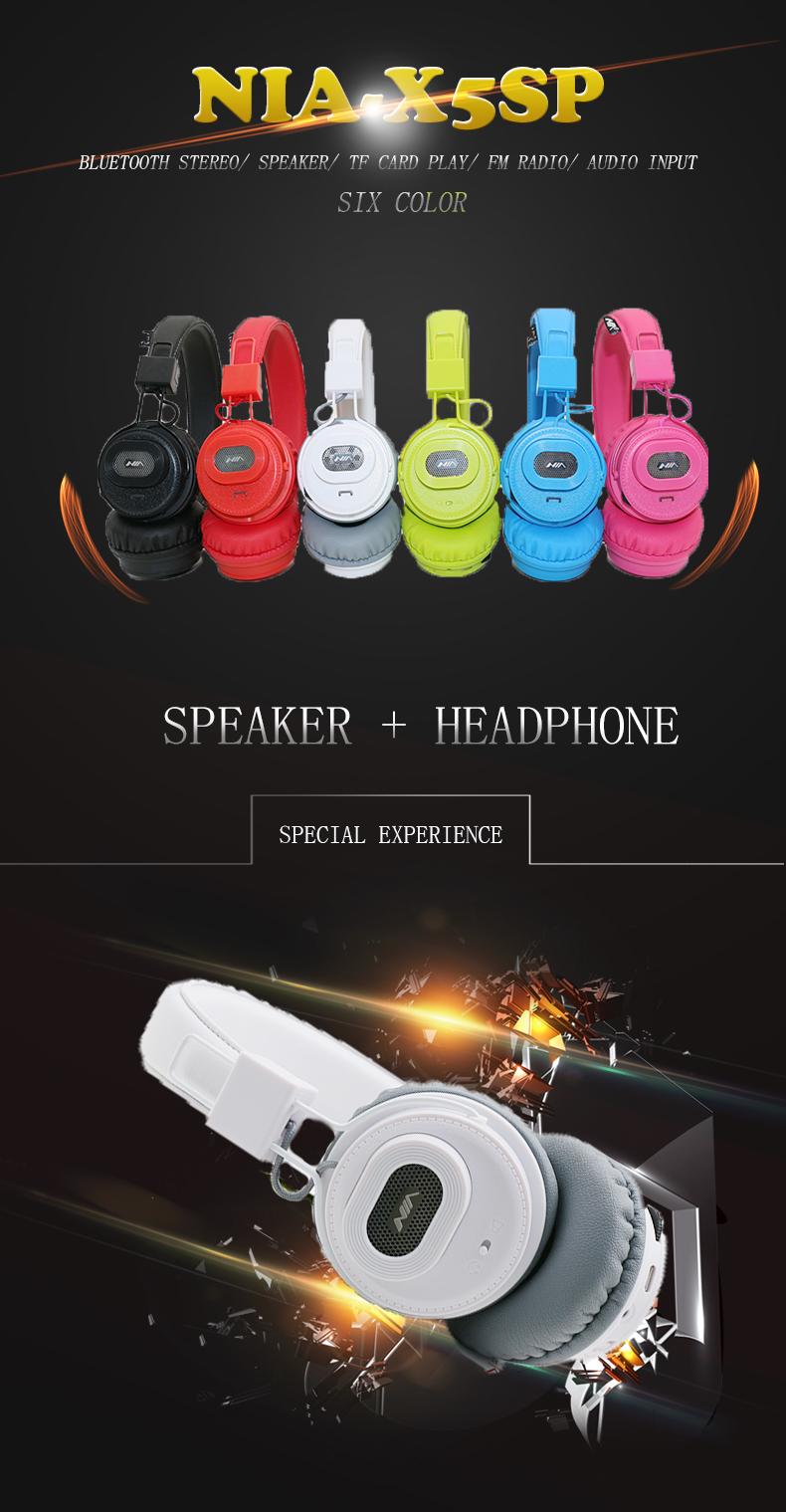 Casque Sans Fil Stéréo Bluetooth - NIA X5SP D'origine Casque Haut-parleurs Bluetooth fone de ouvido avec Mic Chez Gift.Ma Boutique des cadeaux aux meilleurs prix en ligne au Maroc