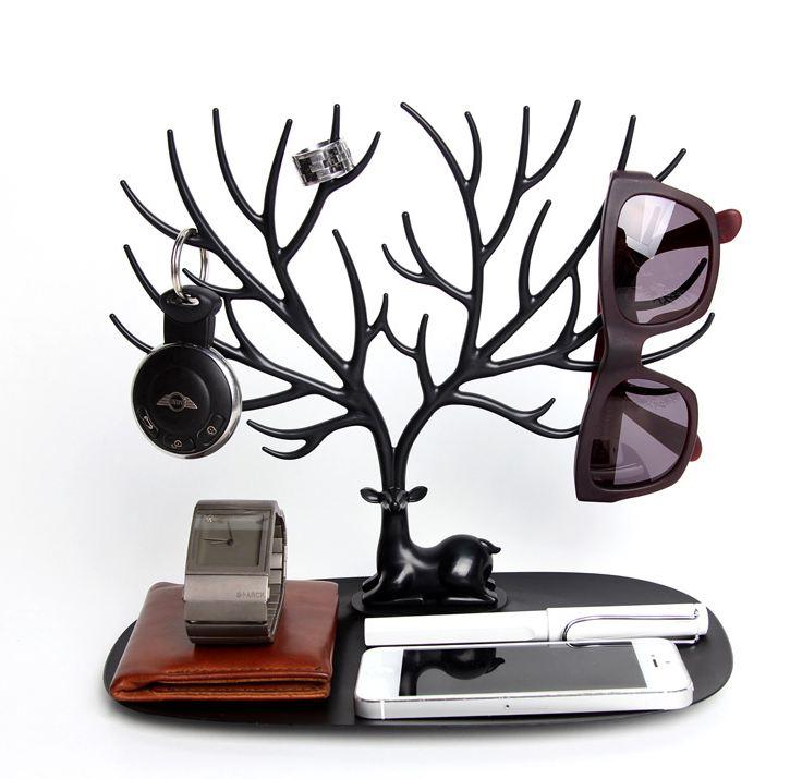 chez_gift.ma_boutique_des_cadeaux_aux_meilleurs_prix_en_ligne_au_maroc_Porte-Bijoux & Accessoires - Déco Très Pratique-home-my-little-deer-accessories-tree-with-tray
