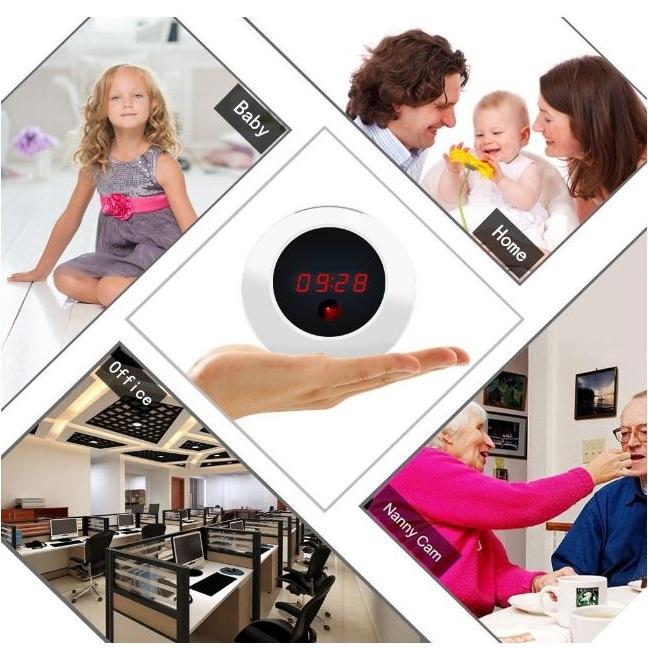 Réveil camera espion boule Chez Gift.Ma Boutique des cadeaux aux meilleurs prix en ligne au Maroc reveil-espion-boule