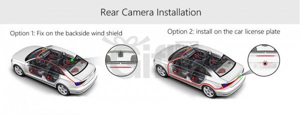 Dashcam - Rétroviseur Voiture Avec Écran Tactile 7 pouces équipé de System Android + GPS + Wifi + 3G + Bluetooth & Caméra De Recul