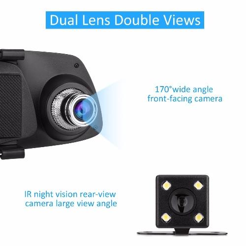 Dashcam - Rétroviseur Caméra Voiture Double Caméra 2x Avec FULL HD Dashcam -  Caméra voiture Full HD Cachée dans un Rétroviseur