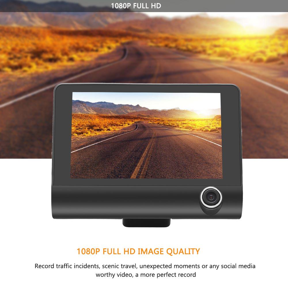 Dashcam Triple Caméra De Voiture - Caméra Avant + Caméra Intérieure et Caméra Recul Chez Gift.Ma Boutique des cadeaux aux meilleurs prix en ligne au Maroc