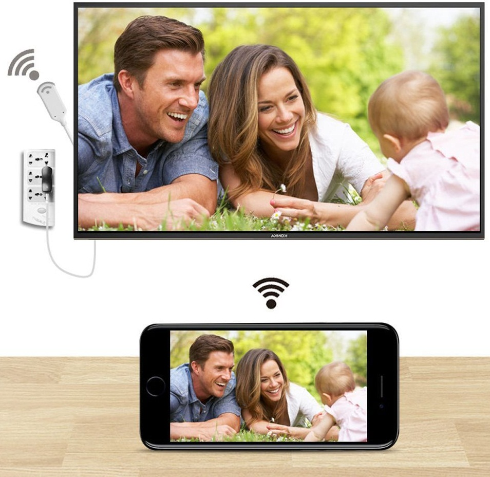 Dongle Mirascreen Wireless HDMI HD TV Adapter Cable for Andriod Samsung iPhone iPad gift.ma maroc cadeaux