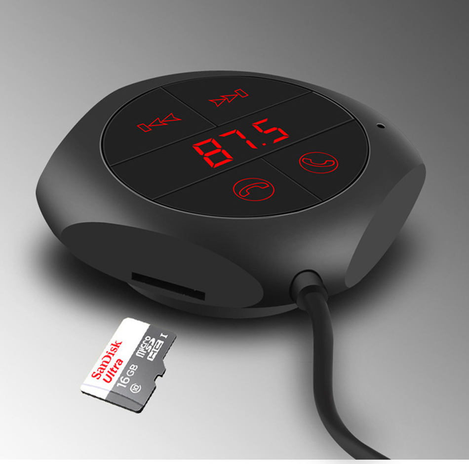Earldom ET-M17 - USB Adaptateur Chargeur & Récepteur Bluetooth avec fonctionnalité Mains Libres Appel MP3 Carte SD