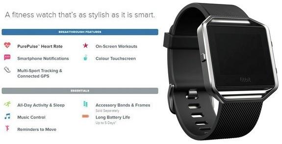 Fitbit Blaze SMALL - Montre Connectée - Chez Gift.Ma Boutique des cadeaux aux meilleurs prix en ligne au Maroc