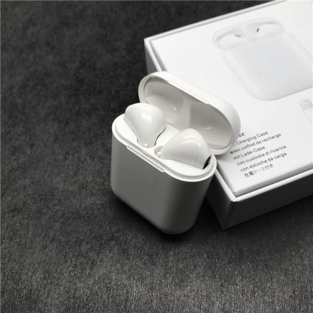 Jumeaux Écouteurs Bluetooth - i8X Écouteurs Sans Fil Anti-Bruit Compatible Android, Apple et Windows Phone + Boitier de chargement Chez Gift.Ma Boutique des cadeaux aux meilleurs prix en ligne au Maroc