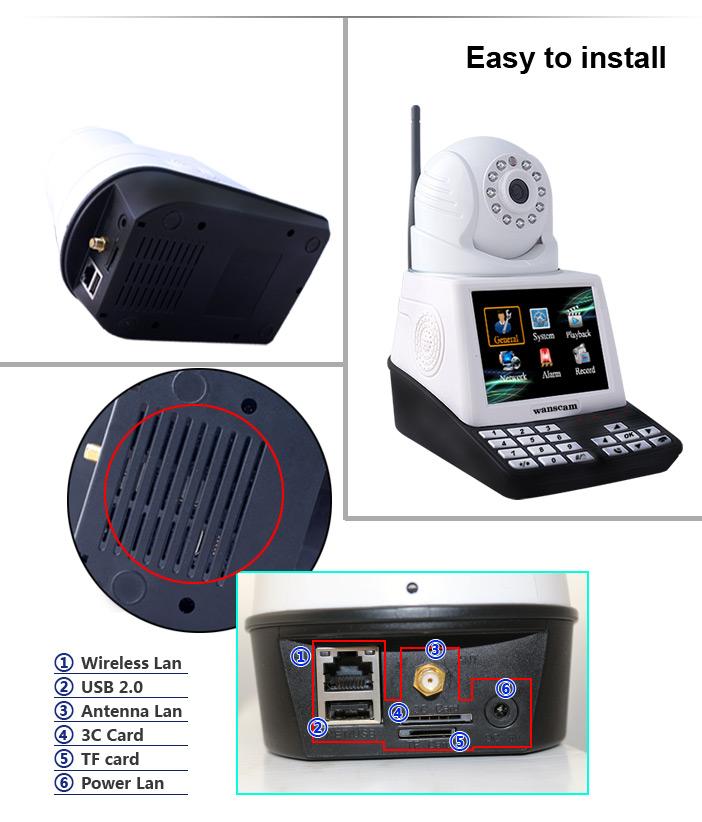 Chez Gift.Ma Boutique des cadeaux aux meilleurs prix en ligne au Maroc H-PT30 - Caméra Maison Réseau de Téléphone Portable Mini caméra Anti-vandalisme de maison H-PT30
