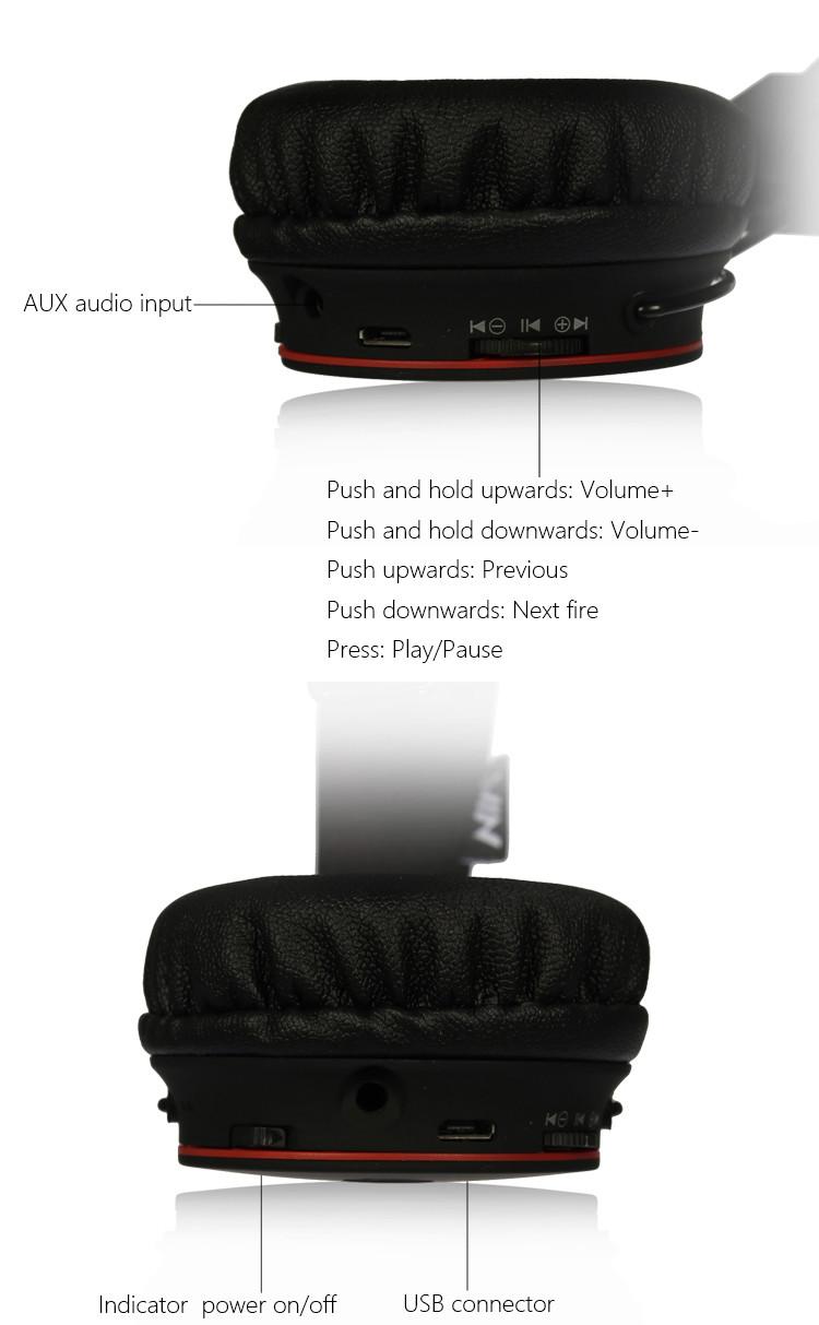 casque audio Bluetooth NIA-X2 avec micro integré fonction mains libres Chez gift.ma boutique en ligne au maroc