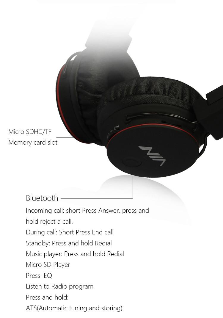 casque audio Bluetooth NIA-X2 avec micro integré fonction mains libres