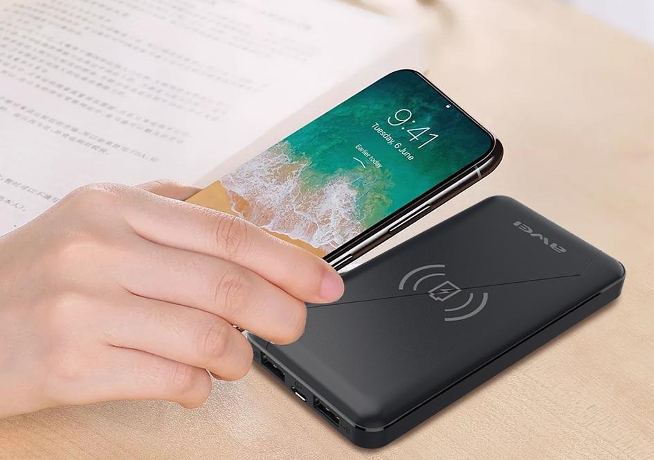 Awei P59K - Powerbank Nouveau power bank 2018 haute qualité petit awei fantasy sans fil chargeur