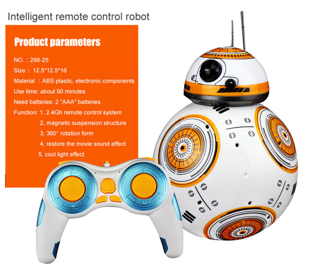 Robot Star Wars avec Télécommande - Santa Says RC BB-8 Robot Star Wars 2.4G remote control