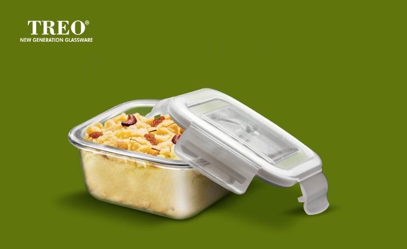 Sacs à Repas Pour Enfant et Adulte - Treo Health First Boîte à lunch en verre Tiffin 3 contenants (300 ml) - Chez Gift.Ma Boutique des cadeaux aux meilleurs prix en ligne au Maroc