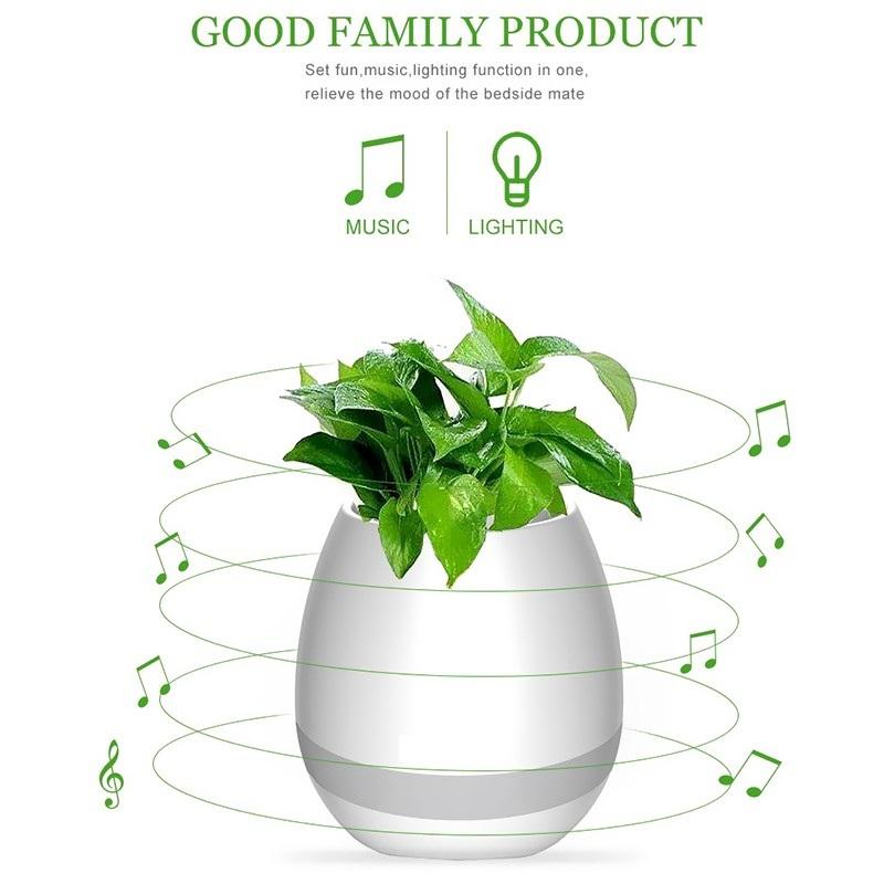 Mini Haut-Parleur Bluetooth - Pot Magique Pour Les Plantes + Lecteur De Musique & Veilleuse Chez Gift.Ma Boutique des cadeaux aux meilleurs prix en ligne au Maroc