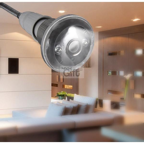 Caméra Surveillance & Espion - Ampoule - Wifi HD Panoramique 360° Avec Accès par Smartphone