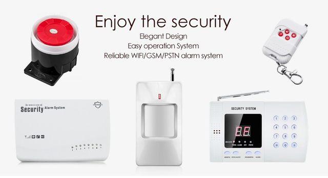 Système GSM d'Alarme Sans Fil Avec Notifications SMS Offres au Maroc aux meilleurs prix sur votre site de cadeaux - Gift.ma