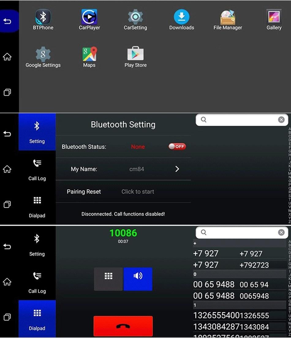 Dashcam - Rétroviseur Voiture Avec Écran Tactile 7 pouces équipé de System Android + GPS + Wifi + Bluetooth + Surveillance En Temps Réel & Caméra De Recul