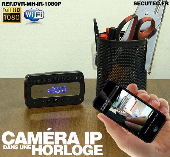 reveil-camera-espion-wifi-acces-a-distance-Chez Gift.Ma Boutique des cadeaux aux meilleurs prix en ligne au Maroc