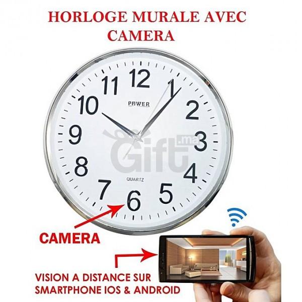 horloge-murale-camera-espion, Chez Gift.Ma Boutique des cadeaux aux meilleurs prix en ligne au Maroc
