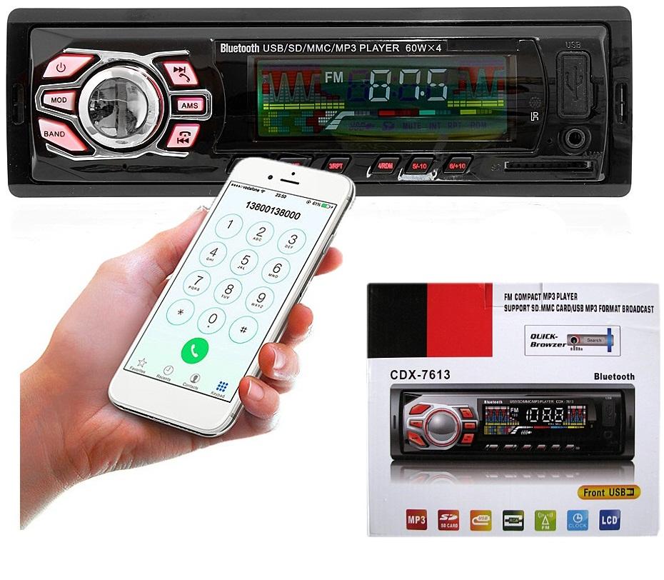 Autoradio Stéréo Bluetooth Voiture FM MP3 Slot USB SD AUX - CDX-7613 Avec Télécommande Chez Gift.Ma Boutique des cadeaux aux meilleurs prix en ligne au Maroc