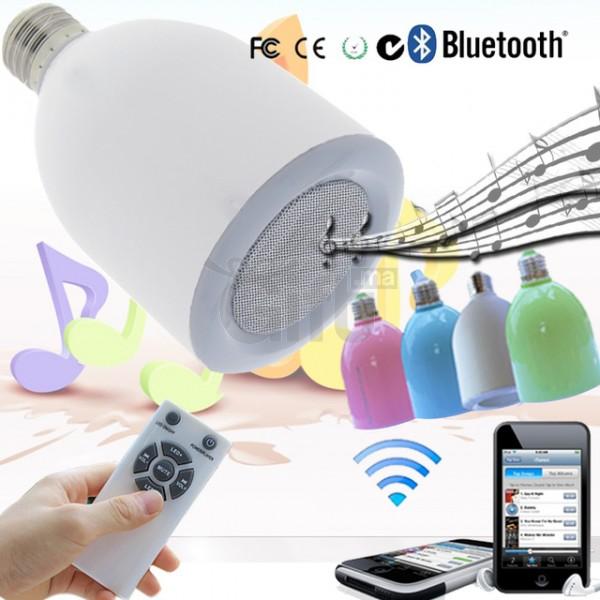 Ampoule LED Avec Haut-Parleur Bluetooth, Chez Gift.Ma Boutique des cadeaux aux meilleurs prix en ligne au Maroc