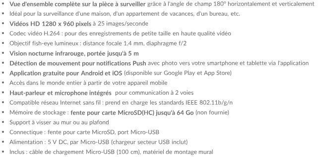 Mini Caméra Wifi Panoramique - Chez Gift.Ma Boutique des cadeaux aux meilleurs prix en ligne au Maroc