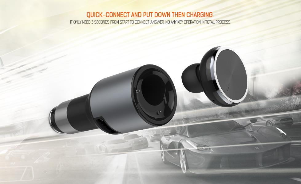 Smart Car Charger Bluetooth Car Charger 2 in 1 CM 20