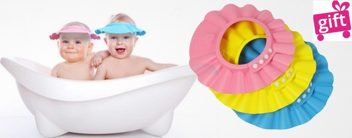 Protège tête pour bébé, Un Accessoire qui va vous plaire à vous et à votre petit bébé  Adieu les larmes pendant la douche !!